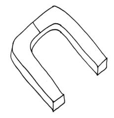 Magnet - Magnet, Magnetismus, magnetisch, Anziehung, Hufeisenmagnet, Anlaut M