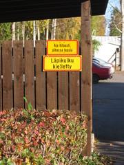 Finnische Schilder 3 - Verkehrschilder, Finnland, Finnisch