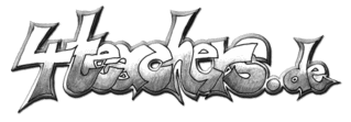 4teachers - Logoidee I - just4tea, graffiti, schrift