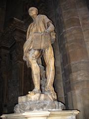 Heiligenfigur - Italien, Mailand, Dom, Kirche, Hl.Bartolomäus, Skulptur, Heiligenverehrung