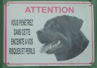 Warnung vor dem Hund - attention, risque, risques, périls, chien