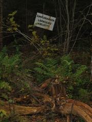 Finnische Schilder 1 - Schild, Wald, Finnisch