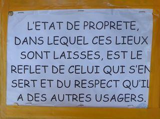 Hinweis zur Sauberkeit - Sauberkeit, propreté, Hinweis