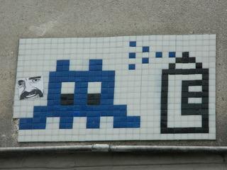 Space Invaders#4 - streetart, space invaders, Mosaik, Paris