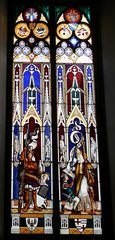 Kirchenfenster - Fenster, Kirchenfenster, bunt, Fenster, Muster, Blick, Aussicht, Kunst, Verglasung, Bemalung, Bleiverglasung, Glaskunst