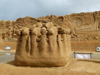 Sandskulptur #1 - Skulptur, Sand, Ausstellung, Kunstwerk
