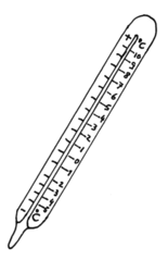 Thermometer - Thermometer, Temperatur, messen, Wärme, Kälte, Celsius, Anlaut T, Skala, Grad