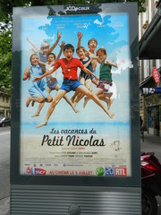 Les vacances du Petit Nicolas - affiche, Plakat, film, cinéma, Kino, Petit Nicolas, Nick, Goscinny, Sempé