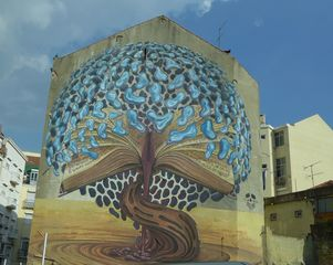 Wandbild - Graffiti, Mauerbilder, Graffito, Bild, Mural, Kunstform, Wandmalerei, Schriftzug, Straßenkunst