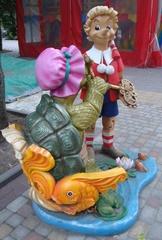 Figuren aus dem Märchen_Das goldene Schlüsselchen#2 - Märchen, Russland, Burationo, Schildkröte