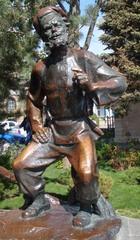Bronzefigur_Kosake - Plastik, Bronze, Figur, Kosake, Russland, Sehenswürdigkeit, Rostow am Don