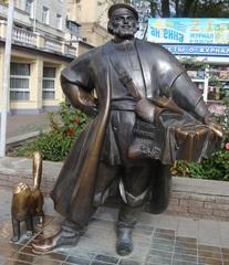Bronzefigur_Kosakenkaufmann - Plastik, Figur, Kaufmann, Kosake, Sehenswürdigkeit, Russland, Rostow am Don