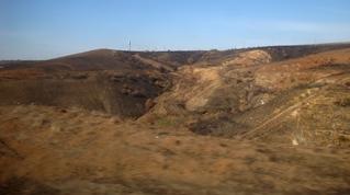 Steppe_Donbas_Abraumhalden_Russland - Steppe, Russland, Donbas, Tagebau