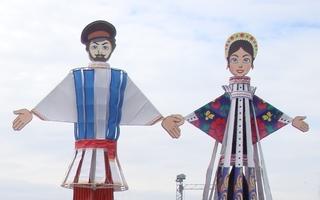Folklorefiguren_Stadtfest_Rostow am Don (Russland) - Russland, russisch, Folklore, Figuren, Fest, Tradition, Brauch, Rostow am Don, Stiller Don