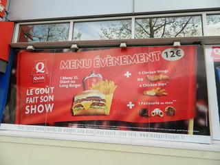 Quick Menu - Frankreich, restaurant, fast-food, Quick, menu, évènement, essen, burger