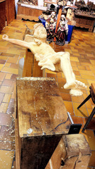 Holzschnitzer im Grödnertal #2 - Holzschnitzer, Holz, schnitzen, Kunst, Werkzeug, Handwerk, Kunsthandwerk, Arbeit, Tradition, Jesus