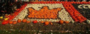 Kürbisdekoration #3 - Kürbis, Kürbisdekoration, Herbst, Krone