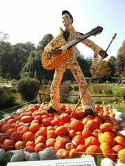 Kürbisdekoration #9 - Kürbis, Kürbisdekoration, Herbst, Rockkultur und Popkultur, Elvis