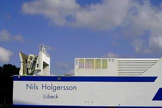 Fährschiff Nils Holgersson #4 - Schiff, Schifffahrt, Tourismus, Fähre, Kombicarrier, Transport, PKW, LKW, Transport, Überfahrt