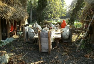 Hobbits aus Kürbissen#8 - Kürbis, Kürbisdekoration, Herbst, essen, Tisch, Familie, Hobbitfamilie