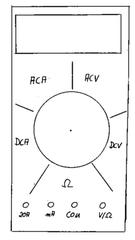 Multimeter, digital - Stromstärke, Spannung, Mulitimeter, digital, Ableseübung