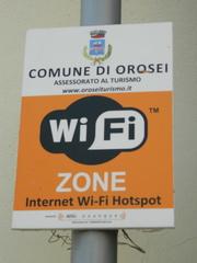 WiFi-zone - Italien, zone, WiFi, W-Lan, Schild, Hinweis, Hinweisschild