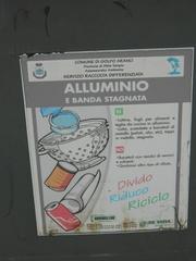 alluminio - Italien, riciclare, alluminio, Aluminium, recyclen
