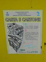 carta e cartone - Italien, recyclen, riciclare, carta, cartone, Papier, Pappe, gelb