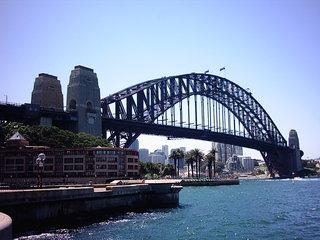Harbour Bridge 1 - Australien, Sydney, Brücke, Bogenbrücke, Stahl, Perspektive