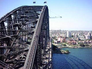 Harbour Bridge 4 - Australien, Sydney, Brücke, Stahl, Perspektive