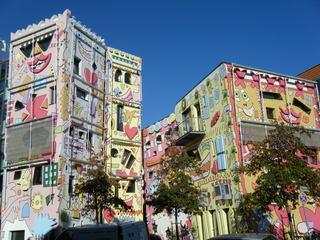 Rizzi Haus in Braunschweig#1 - Popart, Farbe, schief, bunt, Haus, Rizzi, Architektur
