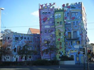 Rizzi Haus in Braunschweig#2 - Popart, Farbe, schief, bunt, Haus, Rizzi, Architektur