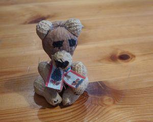 Bär - Teddy, Bär, Spielzeug, Spielsachen, spielen, lieb, brummen, Anlaut T, Anlaut B, Illustration, basteln, gestalten, Nüsse, Früchte