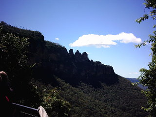 Australien, Three Sisters - Australien, Landschaft, Gebirge, blaue Berge, blue Mountains