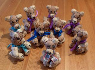 Bären - Teddy, Bär, Spielzeug, Spielsachen, spielen, lieb, brummen, Anlaut T, Anlaut B, Illustration, basteln, gestalten, Nüsse, Früchte