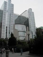 Europäisches Parlament - Europaparlament, Parlament, Parlamentsgebeude, EU, europäisches Parlament, Brüssel, Glas, spiegeln