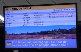 Infos zum Gepäcktransport - Anzeige, Information, voorlichting, bagage