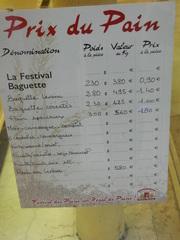 Prix du pain - Frankreich, baguette, prix, boulangerie, pain, poids, Bäcker, Preis