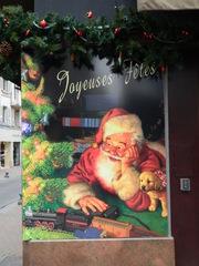 Joyeuses fêtes - Frankreich, fêtes, Joyeuses fêtes, Noel, père Noel, Schild, panneau, Weihnachten