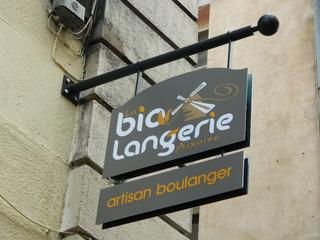 biolangerie - Frankreich, civilisation, boulangerie, bio, biolangerie, magasin, Gerschäft, Bäckerei, Schild, panneau