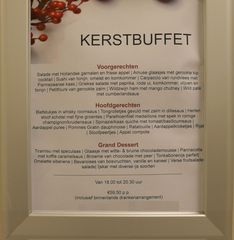Speisekarte #1 - Speisekarte, Essen, Menu, kerst, kerstbuffet, Buffet, voorgerechten