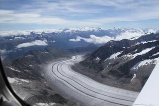 Aletschgletscher im Sommer - Gletscher, Eis, Ferner, Kees, Eismasse, Schnee