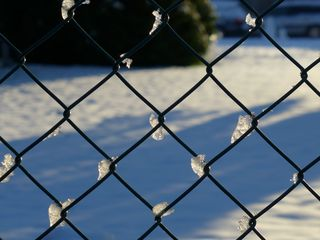 Gartenzaun - Zaun, Gartenzaun, Winter, Schnee, kalt