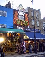 Camden Market London - London, Camden, Camden Lock, Market, Haus, Außenansicht, Tatoo Studio, Geschäft, Laden, Verkauf