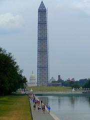 Obelisk - Obelisk, Stele, USA, Amerika, Sehenswürdigkeit, Kapitol, Washington, Monument, Denkmal, Säule, Mathematik, Körper, Symbol, Pyramide, Quader, Volumen, Oberfläche