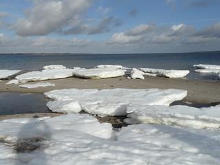 Eisschollen am Ostseestrand - Eisscholle, Eisschollen, Schleswig-Holstein, Eckernförde, Strand, Winter, Eis, Schnee, Wasser, Ostsee, Ostseestrand