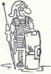 Römer - Rom, Römer, Jesus, Cäsar, Legionär, römischer Legionär, Soldat, Schild, Pilum, Rüstung