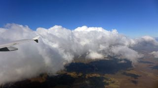 Wolkenformation - blau, weiss, Himmel, Wolken, Wolkenformation