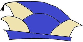 Narrenkappe farbig - Narrenkappe, Karneval, Fasching, Fastnacht, Kappe, Mütze, Tradition, Kopfbedeckung, Köln, Zeichnung, Illustration, Wörter mit Doppelkonsonant