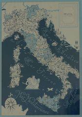 Landkarte Italien - Landkarte, Italien, mapa, Italia